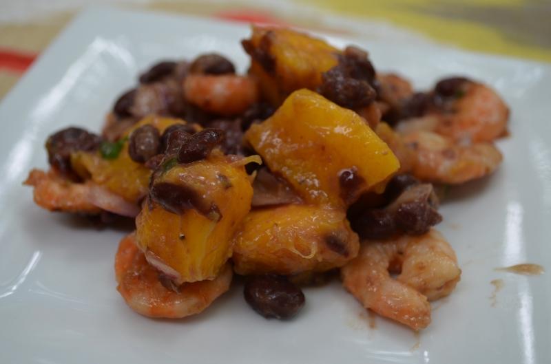 Shrimp with Black Bean-Mango Salsa | Clem & Thyme Nutrition